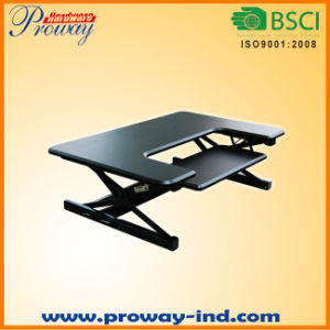 Standing Desk Converter with Wider Keybaord Tray Height Adjustable Sit Stand Desk Monitor Riser Desktop Workstation pictures & photos