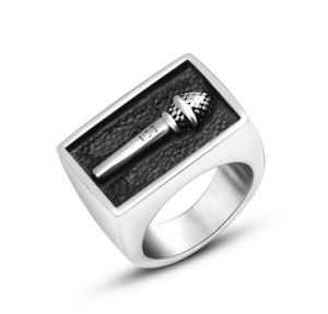 Micphone Carved Men′s Ring Stainless Steel pictures & photos