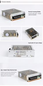HSC-75 Single Output Switching Power Supply 75W 12VDC, 24VDC, 48VDC pictures & photos