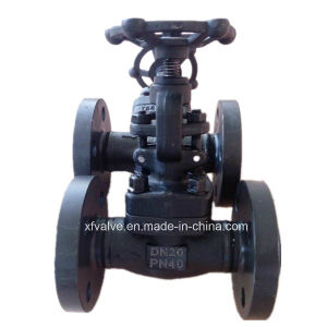 DIN Pn40 Forged Carbon Steel A105 Flange End Globe Valve