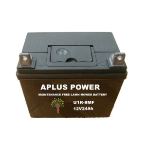 U1r-9 12V24ah Mf Lead Acid Batteries for Lawn Mower Starting pictures & photos