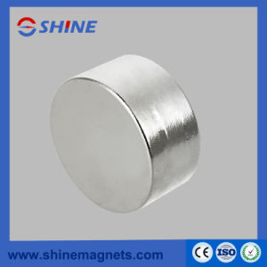 D50X20mm Nickle Plated NdFeB Cylinder Magnet pictures & photos