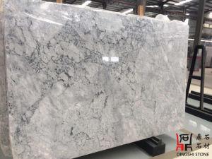 Natural Chinese White Carrara Prague Grey Marble Slabs for Wall Tiles/Countertops