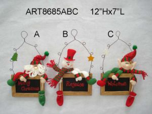 "10""Hx6.5""L Rocking Roll Christmas Decoration Santa, Snowman and Elf, 3 Asst pictures & photos"