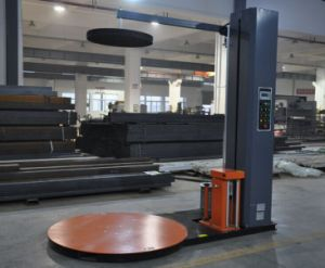 Semi-Auto Pallet Wrapping Machine with Powered Pre-Stretch Film Carriage pictures & photos