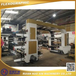Roll to Roll Plastic Film Shopping Bag Flexo Printing Machine pictures & photos