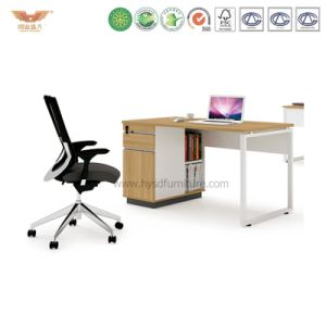 Office Manager Melamine Office Desk with L Shape Return (H90-0202) pictures & photos