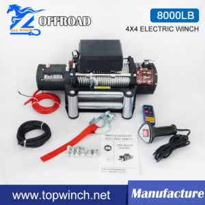 4X4 Electric Winch Recovery Winch 12V 8000lb-2 pictures & photos