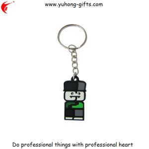 Cheap Bulk 3D Rubber Key Ring for Gifts (YH-KC063) pictures & photos