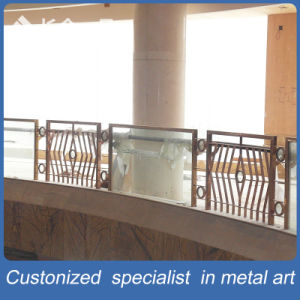 Customized Manufacture Stainless Steel with Glass Handrial for Hotel Lobby pictures & photos