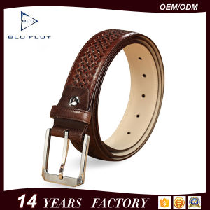 Customized Quality Gift Men′s Genuine Cowhide Leather Braided Waist Belts pictures & photos