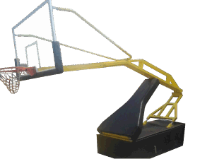 Professional Foldable Manual Hydraulic Adjustable Height  Basketball Stand with Wheels pictures & photos