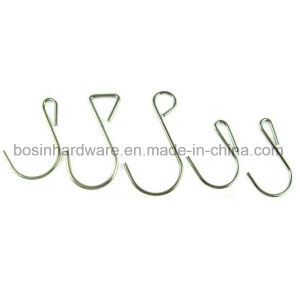 Nickel Plated Steel Metal S Hook pictures & photos