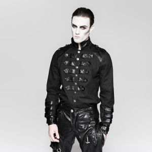 Y-753 Punk Rave Germany Soldierly Stand-up Collar Shirt with Delicate Loops pictures & photos
