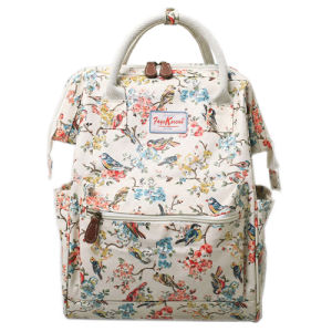 Two Sizes Waterproof Printing Patterns Canvas Lady Backpack (99239)