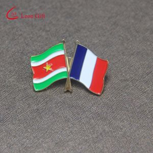 Custom Double Flags Shaped Lapel Pins for Wholesale pictures & photos