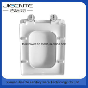 Toilet Ceramic Seat with Soft Closed in Square Shape pictures & photos