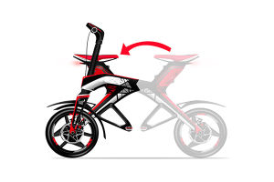 Two Wheel City Coco Folding Brushless Motor Electric Scooter (SZE300B-1) pictures & photos
