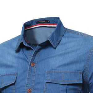 Hot Style Denim Coat Long Sleeve Jeans Shirt Denim Shirt Men pictures & photos