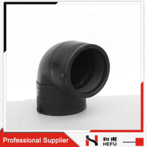 90 Degree HDPE Plastic Standard Weld Elbows for Pipe pictures & photos