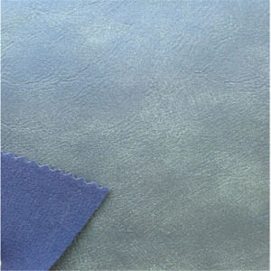 Two Tone Effect PU Leather for Indoor Sofa Making pictures & photos