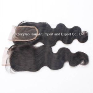 High Quality Human Remy Hair Lace Top Closure for Women pictures & photos