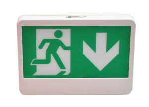 Single or Double Face Down Arrow Running Man Exit Sign pictures & photos