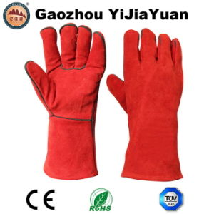 Cow Split Leather Welding Gloves From Gaozhou Factory, China with Ce Approval pictures & photos