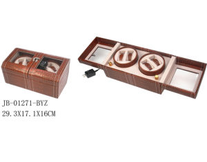 Leather Watch Case Wooden Storage Box Packing Auto Watch Winder pictures & photos