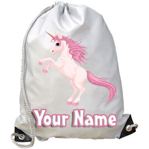 Pink Unicorn Childs Personalised Gym / Swimming / PE Bag - Kids Gift & Named Too pictures & photos