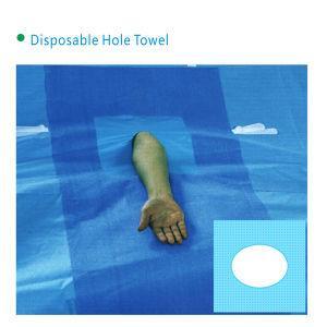 Disposable Non-Woven Disposable Hole Drape-Oval pictures & photos