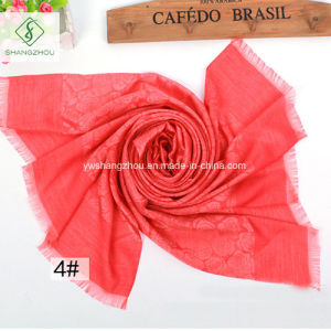 Multicolor Rose Fringed Shawl Fashion Lady Silk Scarf pictures & photos