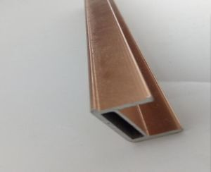 6000 Series Alloy Brushed Aluminium Extruded Profile pictures & photos