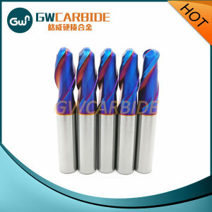 Blue Nano Coating Tungsten Carbide End Mills pictures & photos