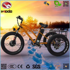 Aluminum Alloy Cargo Electric Fat Tire Tricycle with Lithium Battery pictures & photos