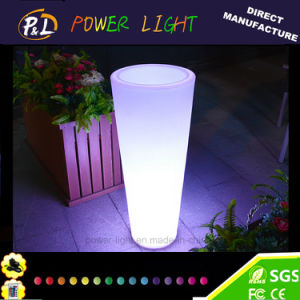 Home /Garden Decoration Colorful Plastic LED Flower Pot pictures & photos
