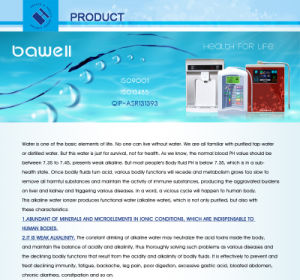 Mineralizing Water Purifier (CE Certified) (BW-JSJ-02) pictures & photos