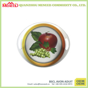 Customized Design Novelty Round Plastic Serving Tray pictures & photos