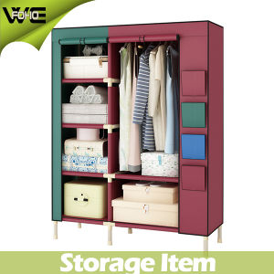 Foho 2 Doors Large Capacity Portable Cloth Wardrobe pictures & photos