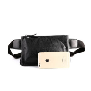 Genuine Leather Waterproof Running Waist Bag for Cellphone pictures & photos