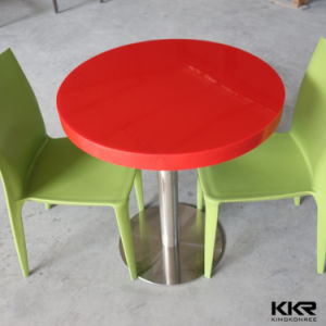 Engineered Solid Surface Restaurant Round Dining Table pictures & photos