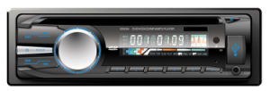 Single DIN Fixed Panel Car Amplifier with Stereo and MP3 MP4 Player pictures & photos