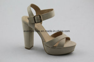 Block Heel Design Fashion Lady High Heel Sandal pictures & photos