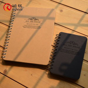Black Craft Paper Spiral Notebook pictures & photos