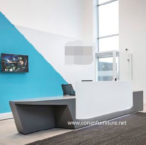 Acrylic Solid Surface Custom Sized Office Reception Desk pictures & photos