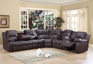Home Furniture Leather Functional Sofa, Comfortable Sofa, Reclining Sleeper Sofa Bed pictures & photos