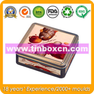 Square Metal Food Container for Chocolate Biscuit, Food Tin Can pictures & photos