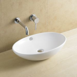 Oval Bathroom Art Basin Without Faucet Hole 8116 pictures & photos