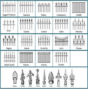 Outdoor Decorative Welded Wrought Iron Garden Fence Good Quality pictures & photos