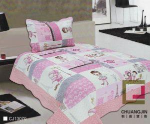 Printed 100% Cotton or Polyester Children Quilt Set (beddding set)